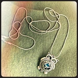 Owl Silver Cage Necklace
